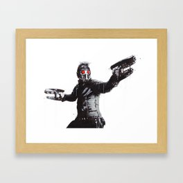 Star-Lord (Peter Quill) Guardians Graffiti Pop Urban Street Art Framed Art Print
