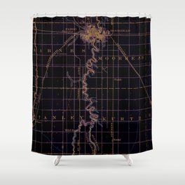 Fargo old map year 1895, united states vintage maps Shower Curtain