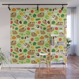 Guinea Pig And Its Treats Wall Mural