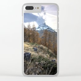 Autumn by the Matterhorn Clear iPhone Case
