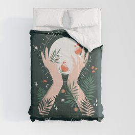 Bloom under the Full Moon Comforters