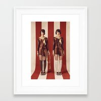 twins Framed Art Prints featuring Twins by Rebecca Handler
