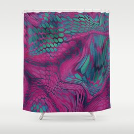 Asia Dragon Scales Shower Curtain