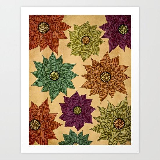 Color Me Floral Art Print