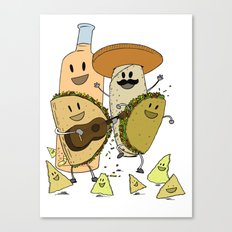 Happy Tacos Canvas Print