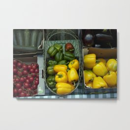 Fruit and Vegetable Stand Metal Print
