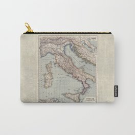 Bella Italia Vintage Map Of Italy Carry-All Pouch