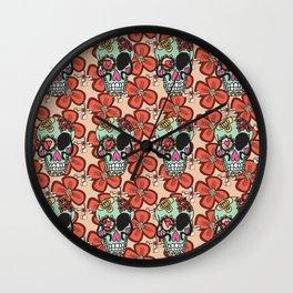 flowerskull Wall Clock