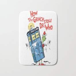 How The Grinch Stole Dr. Who (on Light) Bath Mat