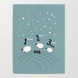 Counting Sheep I: 1 2 3 Counting Sheep Poster