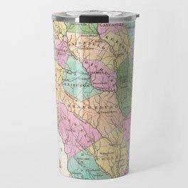 Vintage Map of South Carolina (1827) Travel Mug