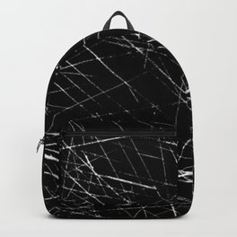 Black And White Grunge Scratch Backpack