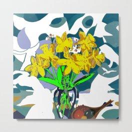 A  Daffodil Day        by Kay Lipton Metal Print