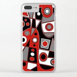 Abstract #968 Clear iPhone Case
