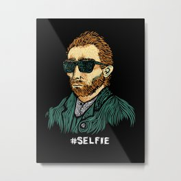 Van Gogh: Master of the #Selfie Metal Print