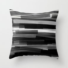 Black Stripes Throw Pillow