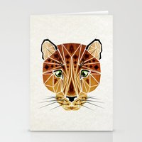 leopard Stationery Cards featuring leopard by Manoou