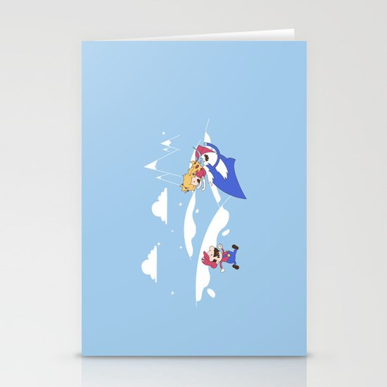 Mario's Adventure Time Stationery Cards