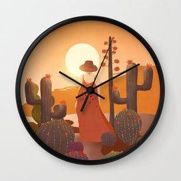 Beauty in the desert Wall Clock