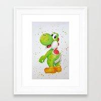 yoshi Framed Art Prints featuring Yoshi by Sabina's Arts