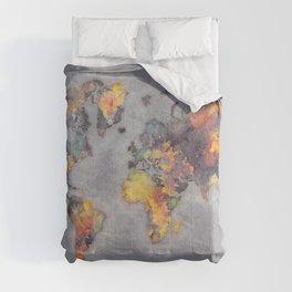 world map 111 #worldmap #world #map Comforters