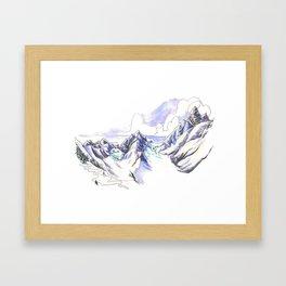 Seracs at Sunste Framed Art Print