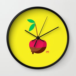 Chocolate Covered Cherry Wall Clock