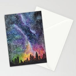coloured night Stationery Cards