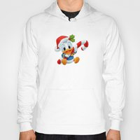 donald duck Hoodies featuring Christmas baby Donald Duck by Yuliya L
