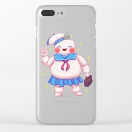 Stay Puft and Cute Clear iPhone Case