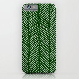 Forest Green Herringbone iPhone Case