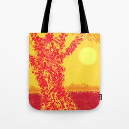 Red Tree, Hot Yellow Sun Tote Bag