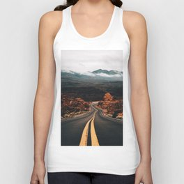 Road to Valley of Fire Unisex Tank Top