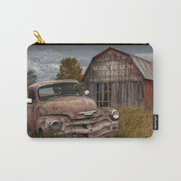 Rusted Pickup Truck with Mail Pouch Tobacco Barn Carry-All Pouch