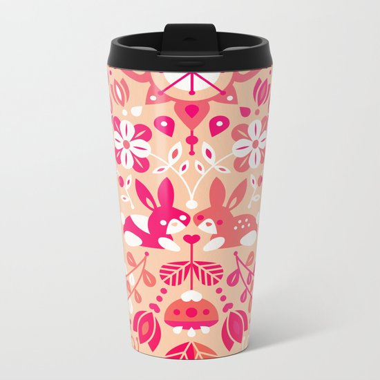 Bunny Lovers – Pink Palette Metal Travel Mug