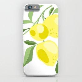 Fresh lemon iPhone Case