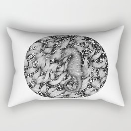 Seahorse in the Kelp Forest Rectangular Pillow