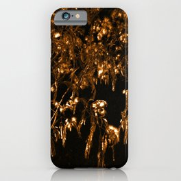 Bronze Giger Leaves iPhone Case