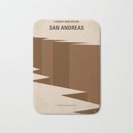 No810 My San Andreas minimal movie poster Bath Mat