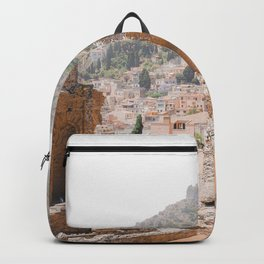 Ancient Greek theatre | travel photography Italy Taormina Europe summer vintage Backpack