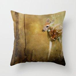 FAWN GOLDEN HOUR Throw Pillow