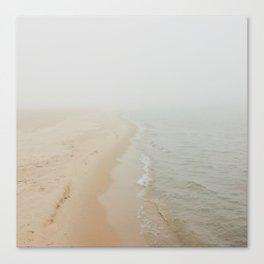 Where the Surf Meets the Sand | Muskegon, MI Canvas Print