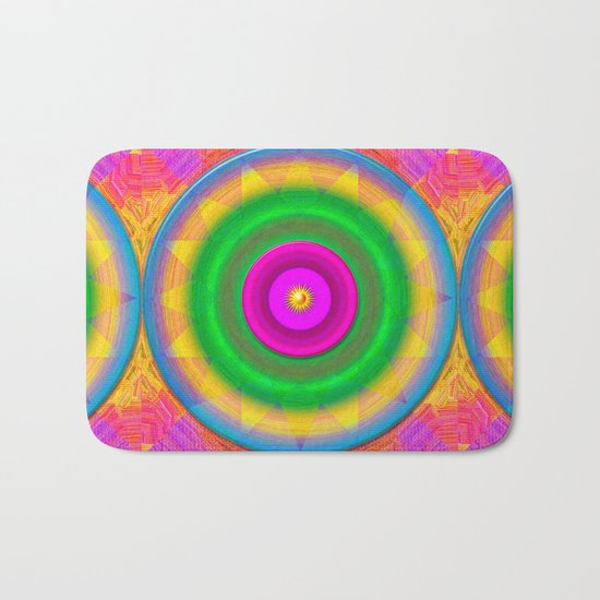 Sunshine and rainbows Bath Mat