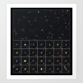 Hubble Space Telescope - Hubble spies tiny galaxies aglow with star birth Art Print
