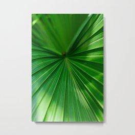 Green Palm Metal Print