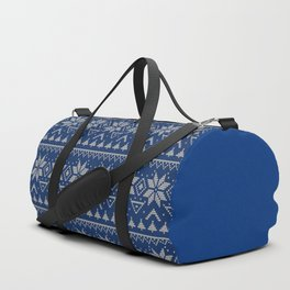 Knitted Scandinavian pattern 2 Duffle Bag