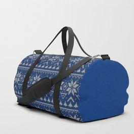 Knitted Scandinavian pattern 2 Duffle Bag