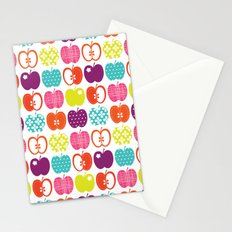 Textured Apples Stationery Cards