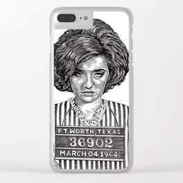 Big Hair Texas Trouble Clear iPhone Case