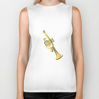 trumpet Biker Tanks featuring Trumpet by shopaholic chick